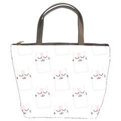 Pattern Cat Pink Cute Sweet Fur Bucket Bags