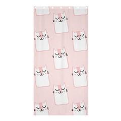 Pattern Cat Pink Cute Sweet Fur Shower Curtain 36  x 72  (Stall)