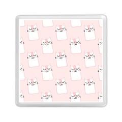 Pattern Cat Pink Cute Sweet Fur Memory Card Reader (Square)