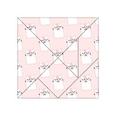 Pattern Cat Pink Cute Sweet Fur Acrylic Tangram Puzzle (4  x 4 )