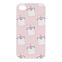 Pattern Cat Pink Cute Sweet Fur Apple iPhone 4/4S Premium Hardshell Case