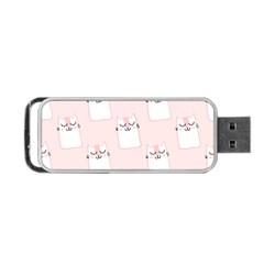 Pattern Cat Pink Cute Sweet Fur Portable USB Flash (One Side)