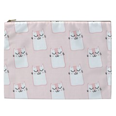 Pattern Cat Pink Cute Sweet Fur Cosmetic Bag (xxl)  by Celenk