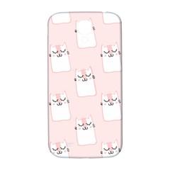 Pattern Cat Pink Cute Sweet Fur Samsung Galaxy S4 I9500/I9505  Hardshell Back Case