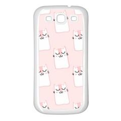 Pattern Cat Pink Cute Sweet Fur Samsung Galaxy S3 Back Case (White)