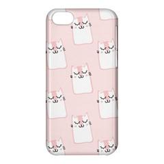 Pattern Cat Pink Cute Sweet Fur Apple iPhone 5C Hardshell Case