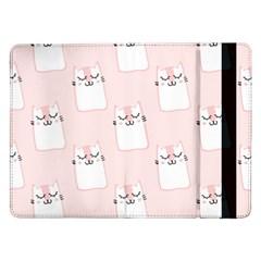 Pattern Cat Pink Cute Sweet Fur Samsung Galaxy Tab Pro 12.2  Flip Case