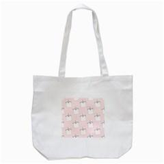 Pattern Cat Pink Cute Sweet Fur Tote Bag (White)