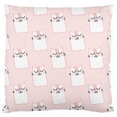 Pattern Cat Pink Cute Sweet Fur Standard Flano Cushion Case (one Side)