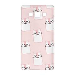 Pattern Cat Pink Cute Sweet Fur Samsung Galaxy A5 Hardshell Case
