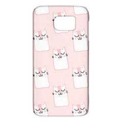 Pattern Cat Pink Cute Sweet Fur Galaxy S6