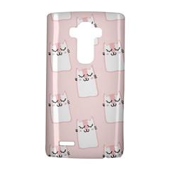 Pattern Cat Pink Cute Sweet Fur LG G4 Hardshell Case