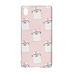 Pattern Cat Pink Cute Sweet Fur Sony Xperia Z3+ by Celenk