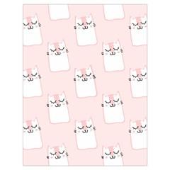 Pattern Cat Pink Cute Sweet Fur Drawstring Bag (large) by Celenk