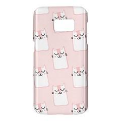 Pattern Cat Pink Cute Sweet Fur Samsung Galaxy S7 Hardshell Case