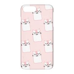 Pattern Cat Pink Cute Sweet Fur Apple iPhone 7 Plus Hardshell Case