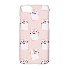Pattern Cat Pink Cute Sweet Fur Apple iPhone 7 Hardshell Case