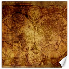 Map Of The World Old Historically Canvas 12  X 12   by Celenk