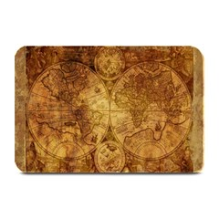 Map Of The World Old Historically Plate Mats by Celenk