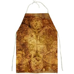 Map Of The World Old Historically Full Print Aprons by Celenk