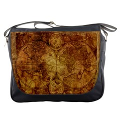 Map Of The World Old Historically Messenger Bags by Celenk