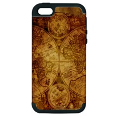 Map Of The World Old Historically Apple Iphone 5 Hardshell Case (pc+silicone) by Celenk