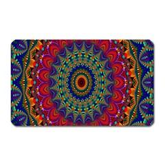Kaleidoscope Mandala Pattern Magnet (rectangular) by Celenk