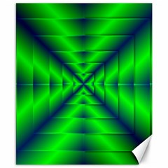 Shiny Lime Navy Sheen Radiate 3d Canvas 8  X 10  by Celenk