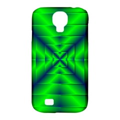 Shiny Lime Navy Sheen Radiate 3d Samsung Galaxy S4 Classic Hardshell Case (pc+silicone) by Celenk