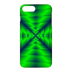 Shiny Lime Navy Sheen Radiate 3d Apple Iphone 7 Plus Hardshell Case by Celenk