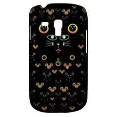 Merry Black Cat In The Night And A Mouse Involved Pop Art Galaxy S3 Mini by pepitasart