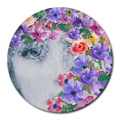 Flower Girl Round Mousepads by 8fugoso