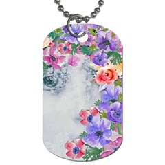 Flower Girl Dog Tag (two Sides) by 8fugoso