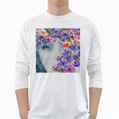 Flower Girl White Long Sleeve T Shirts by 8fugoso