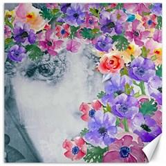 Flower Girl Canvas 12  X 12   by 8fugoso