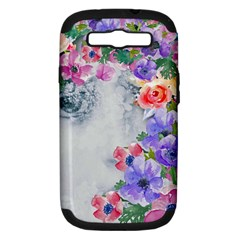 Flower Girl Samsung Galaxy S Iii Hardshell Case (pc+silicone) by 8fugoso