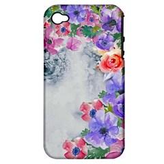 Flower Girl Apple Iphone 4/4s Hardshell Case (pc+silicone) by 8fugoso