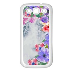 Flower Girl Samsung Galaxy S3 Back Case (white) by 8fugoso