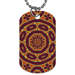 Geometric Tapestry Dog Tag (two Sides) by linceazul