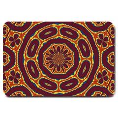 Geometric Tapestry Large Doormat  by linceazul