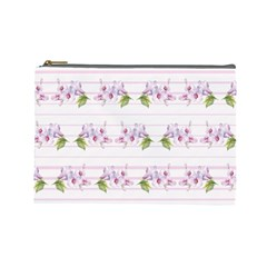 Floral Pattern Cosmetic Bag (large)  by SuperPatterns