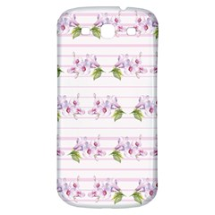 Floral Pattern Samsung Galaxy S3 S Iii Classic Hardshell Back Case by SuperPatterns