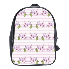Floral Pattern School Bag (xl) by SuperPatterns