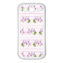Floral Pattern Samsung Galaxy S3 Back Case (white) by SuperPatterns