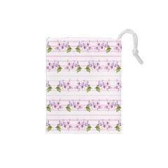 Floral Pattern Drawstring Pouches (small)  by SuperPatterns