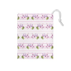 Floral Pattern Drawstring Pouches (medium)  by SuperPatterns
