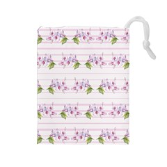 Floral Pattern Drawstring Pouches (large)  by SuperPatterns