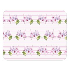 Floral Pattern Double Sided Flano Blanket (large)  by SuperPatterns