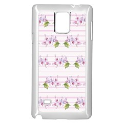 Floral Pattern Samsung Galaxy Note 4 Case (white) by SuperPatterns