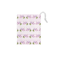 Floral Pattern Drawstring Pouches (xs)  by SuperPatterns